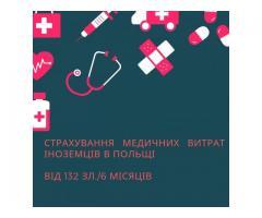 Страхування медичних витрат іноземців в Польщі.